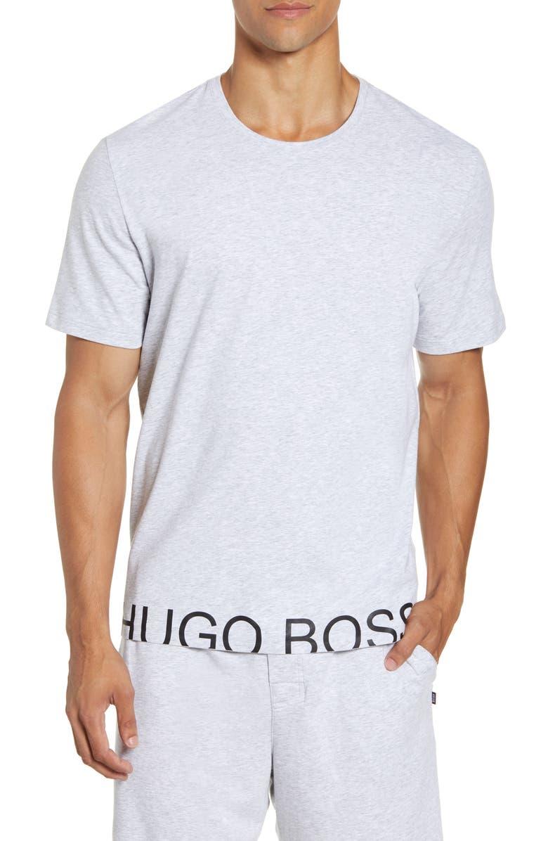 BOSS Identity Crewneck T-Shirt, Main, color, MEDIUM GREY