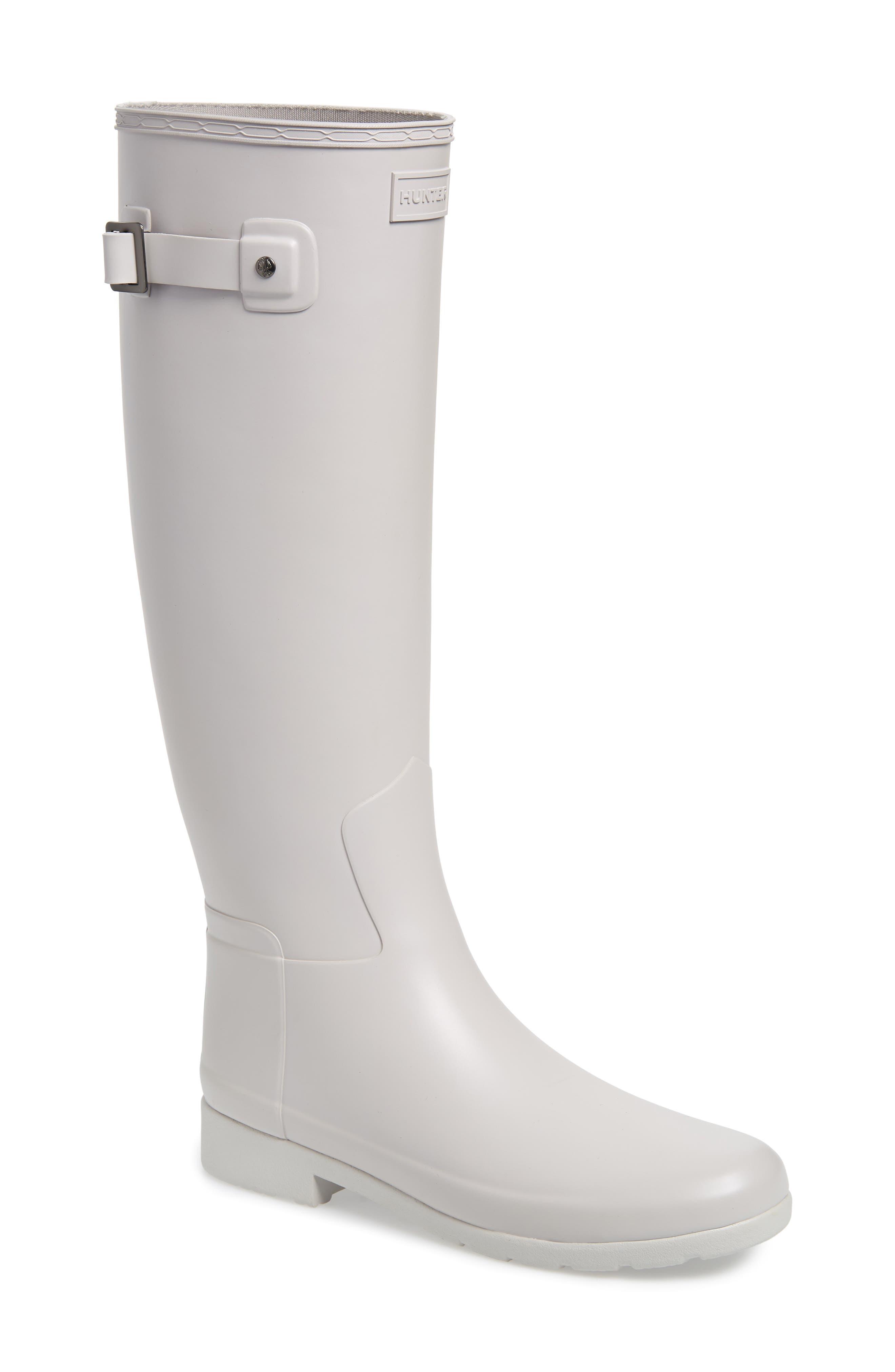 Hunter Original Refined Waterproof Rain Boot, Grey