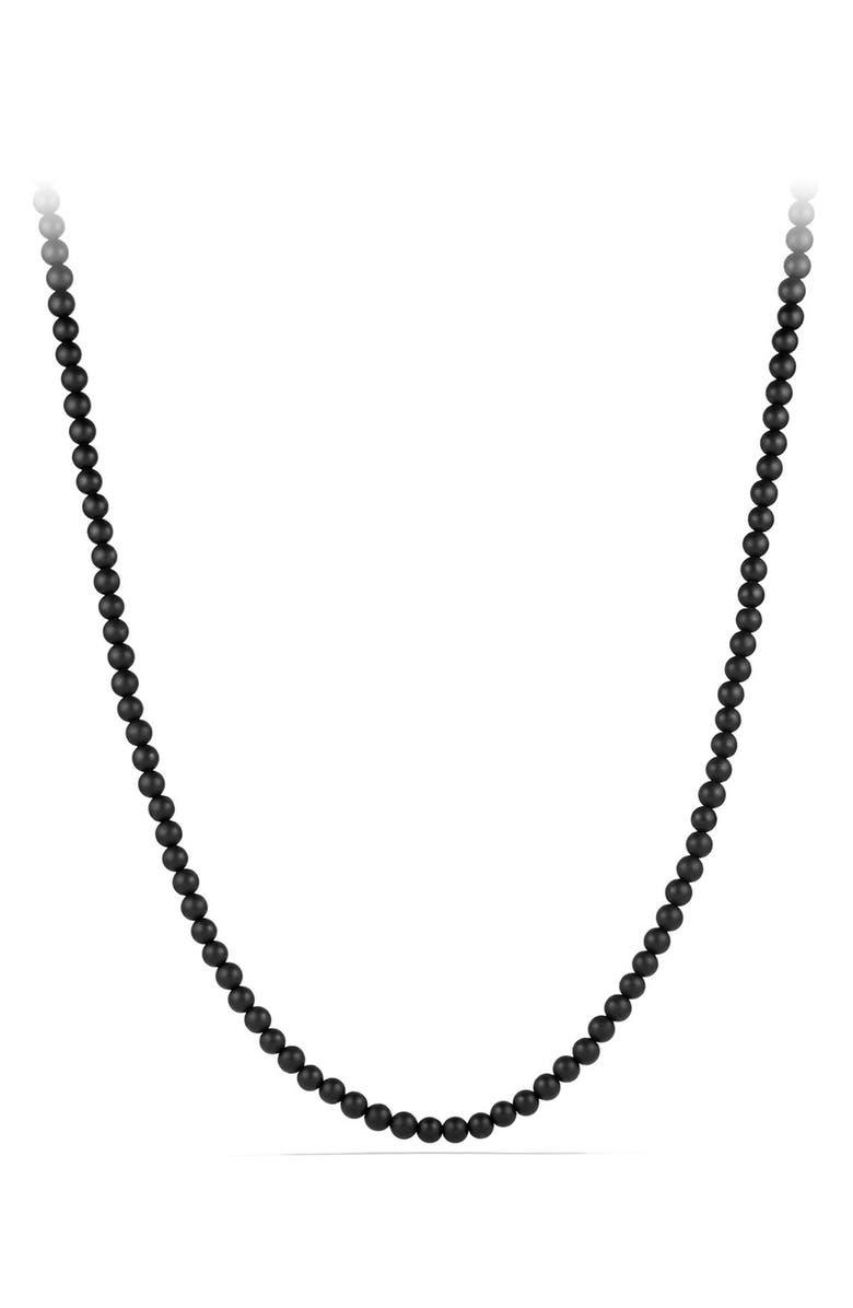 DAVID YURMAN Beaded Necklace with Semiprecious Stone, Main, color, BLACK ONYX