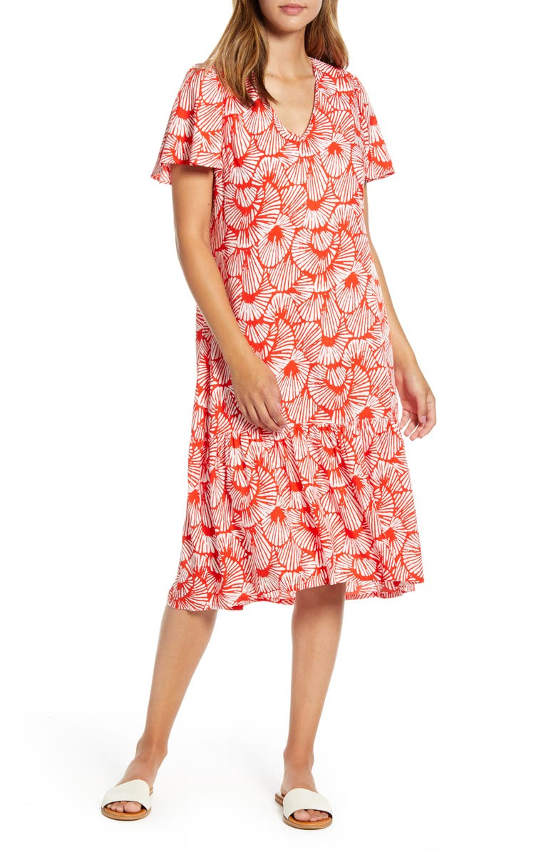 TOMMY BAHAMA Shall We Dance Dress, Main, color, POPPY RED