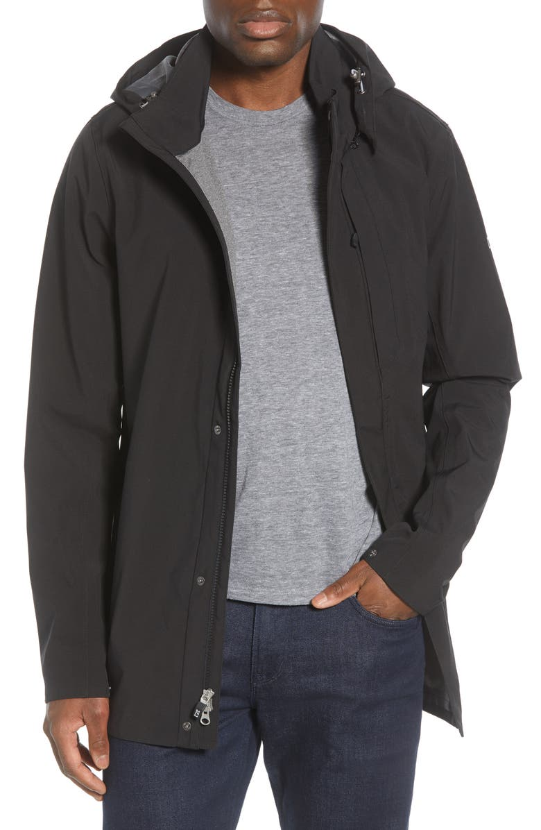 CUTTER & BUCK Shield Hooded Jacket, Main, color, BLACK