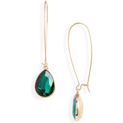 Halogen Crystal Drop Earrings