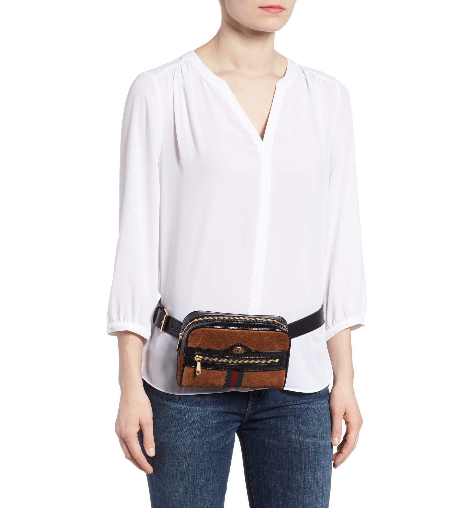 d1938c3031fc1e Gucci Ophidia Small Suede Belt Bag | Nordstrom