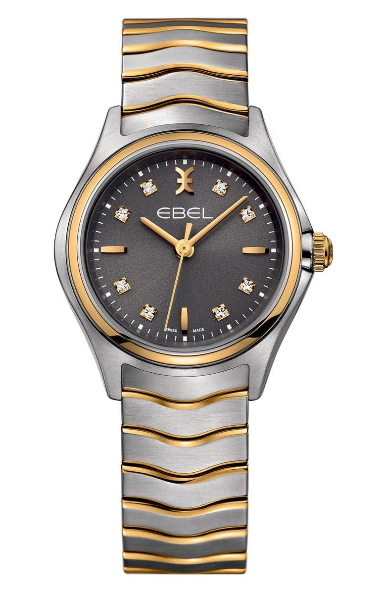 EBEL Wave Bracelet Watch, 30mm, Main, color, 040