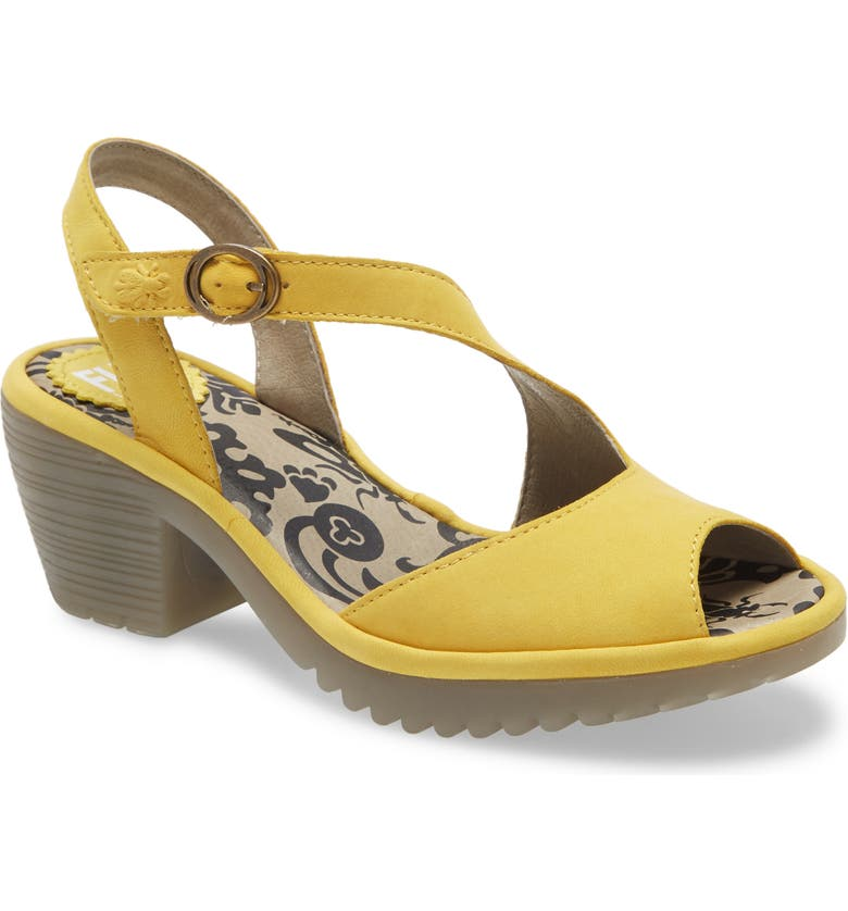 FLY LONDON Wyno Sandal, Main, color, BRIGHT YELLOW CUPIDO LEATHER