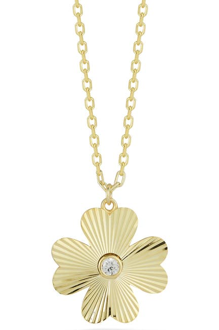 Image of Sphera Milano Gold Vermeil CZ Clover Necklace