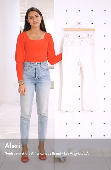 Stretch Organic Cotton Crop Flare Jeans, sales video thumbnail