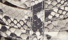 GREY SNAKE PRINT LEATHER