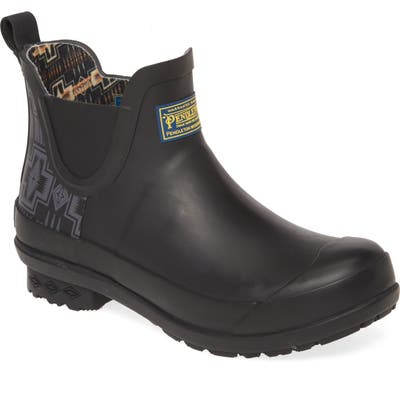 Pendleton Harding Waterproof Chelsea Rain Boot, Black