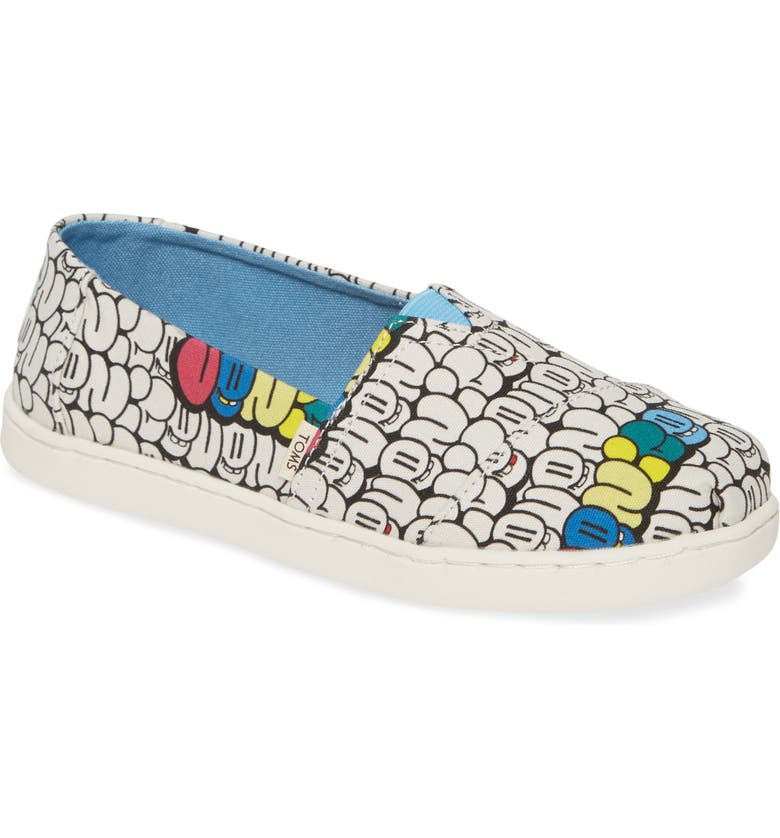 TOMS Classic Alpargata Slip-On, Main, color, WHITE