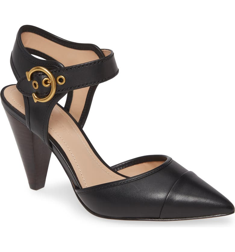 COACH Wren Pointy Toe Pump, Main, color, BLACK LEATHER