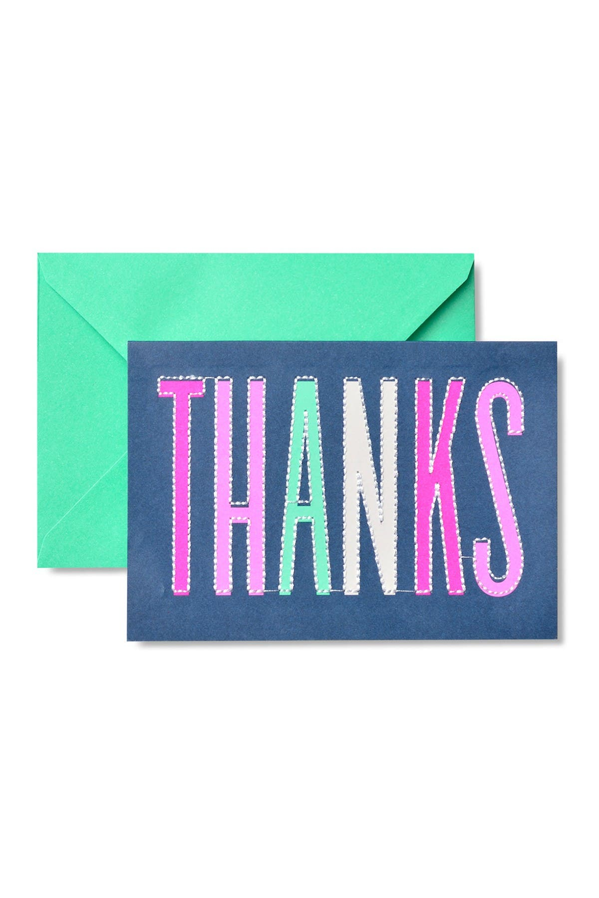 Image of GARTNER STUDIOS Navy Neon Thank You Cards - 32-Count