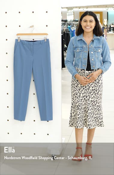 Flat Front Crop Tailored Trousers, sales video thumbnail