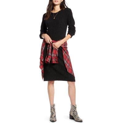 Treasure & Bond Nep Sweater Dress, Black