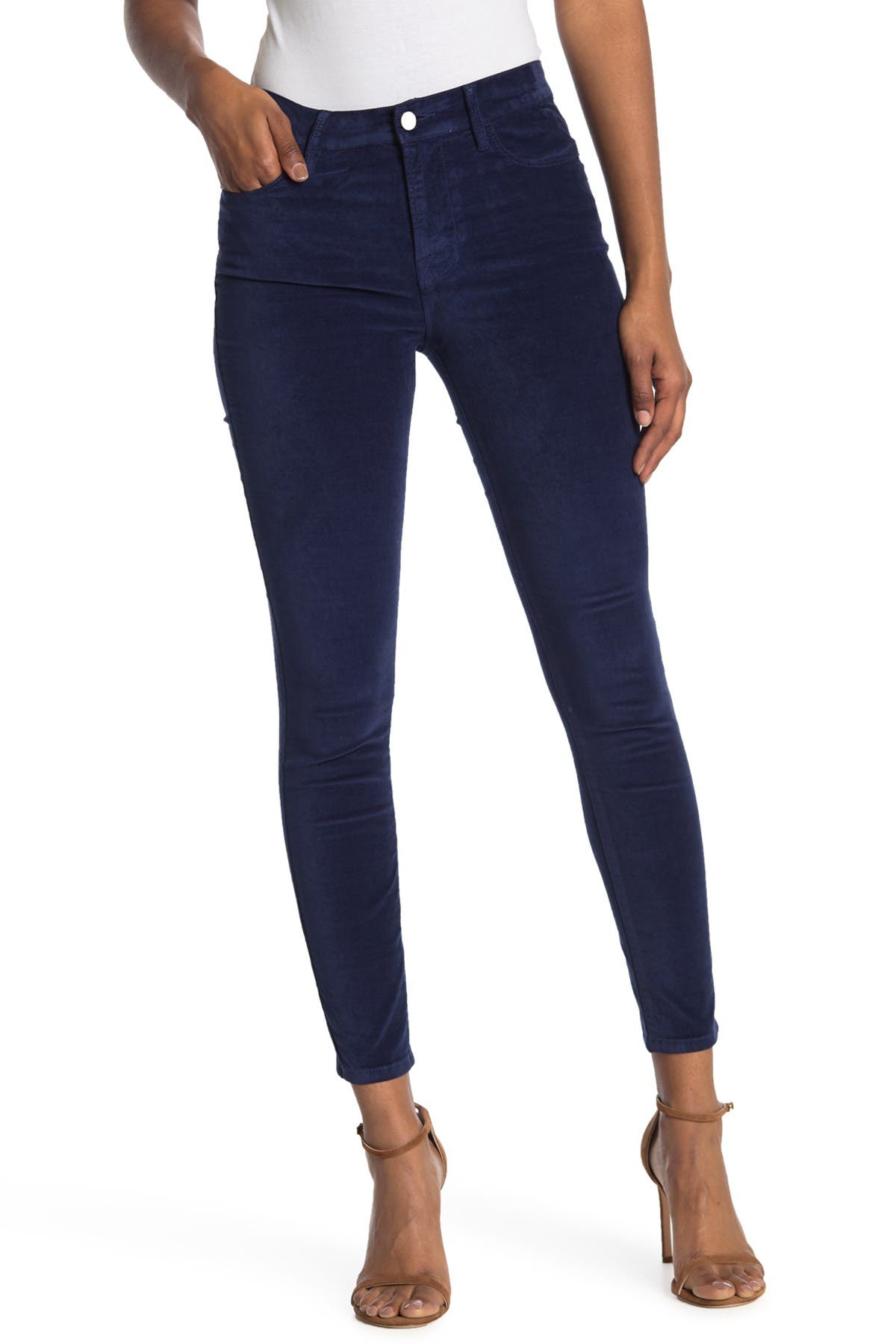 Image of FRAME Le High Crop Velveteen Skinny Pants
