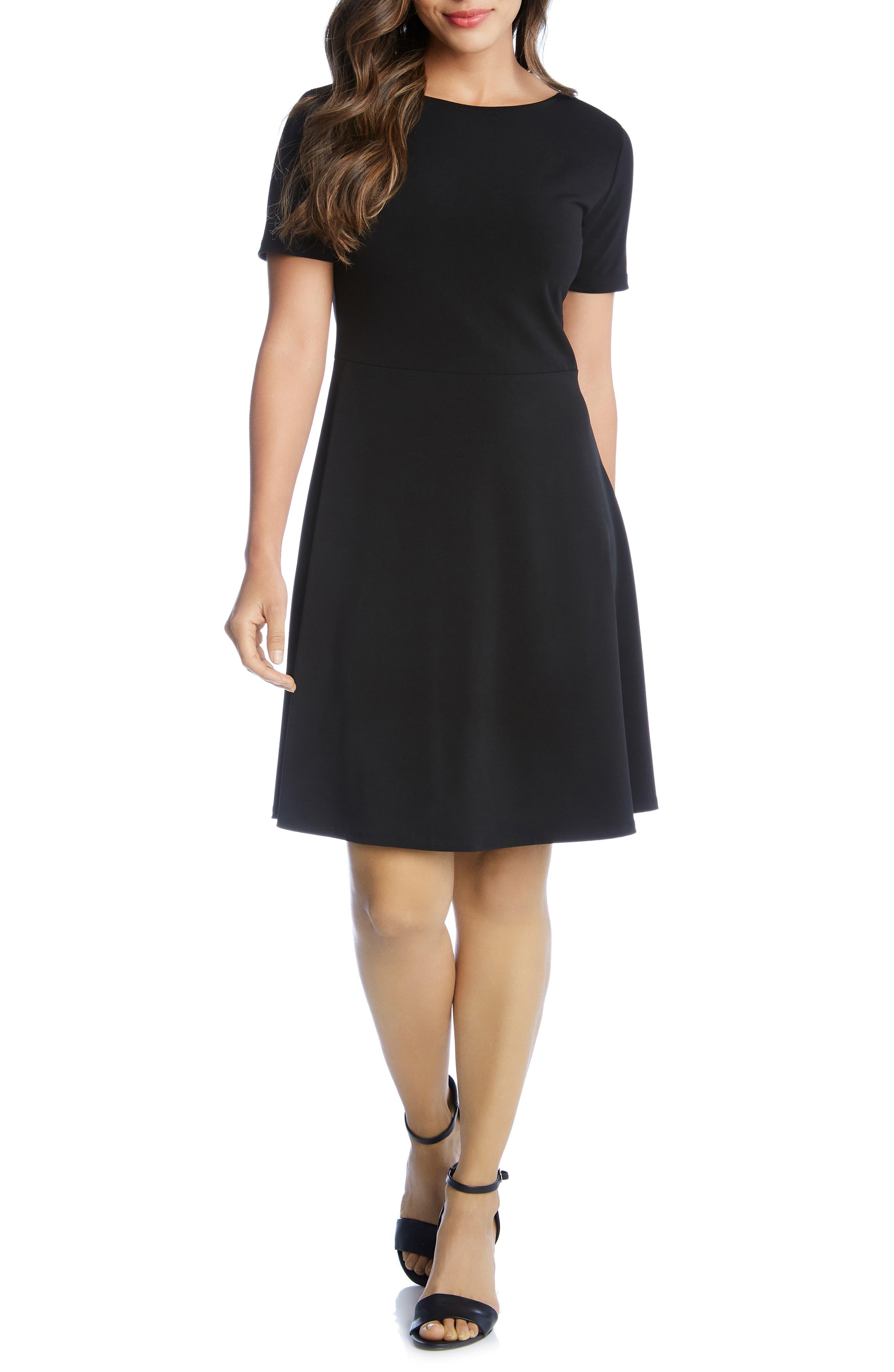 Karen Kane Short Sleeve Dress, Black