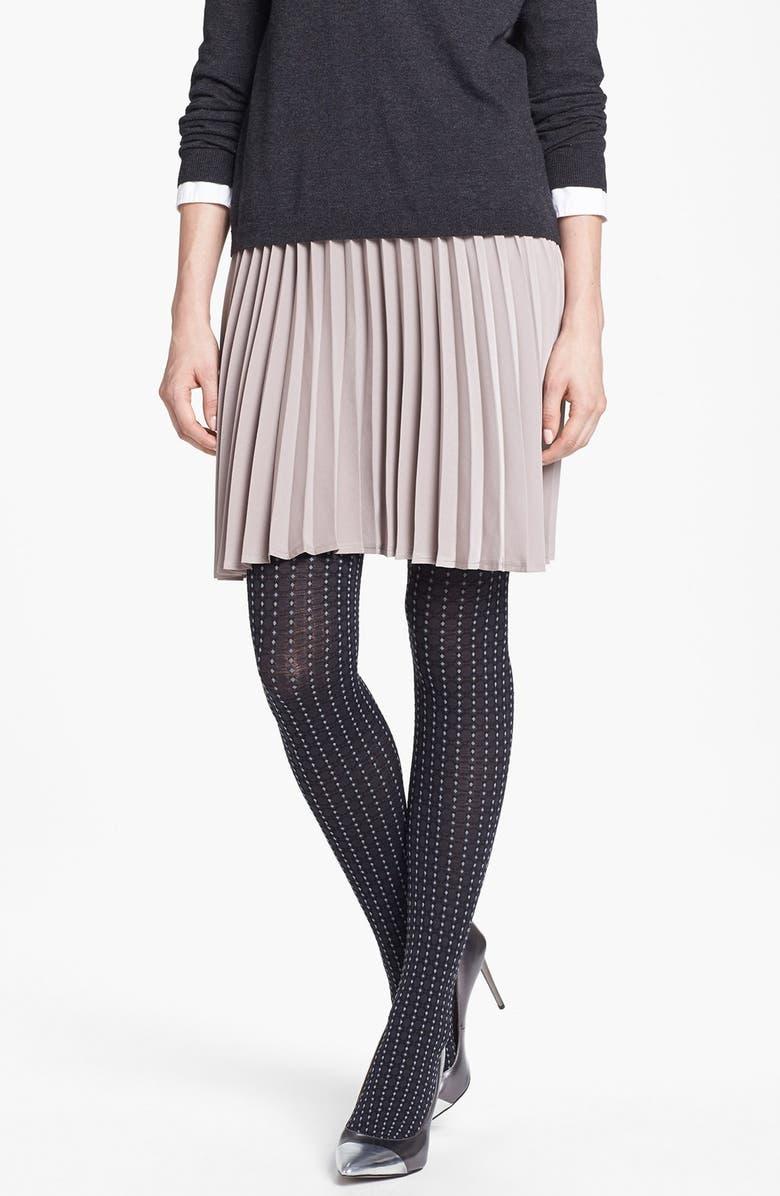 DKNY 'Menswear Foulard' Tights, Main, color, 001