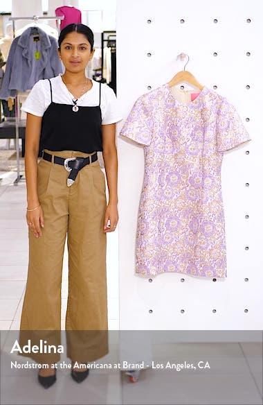 Gail Brocade Sheath Minidress, sales video thumbnail