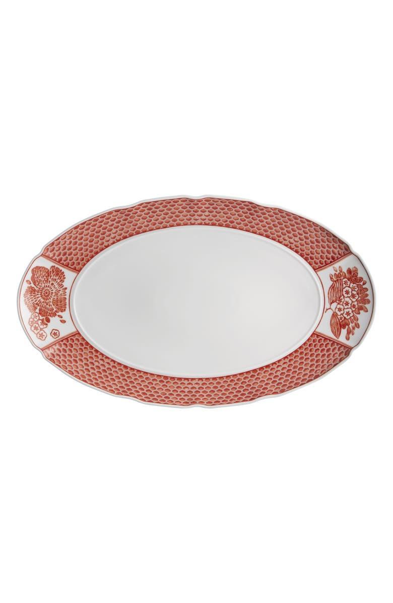 OSCAR DE LA RENTA Coralina Small Oval Platter, Main, color, 100