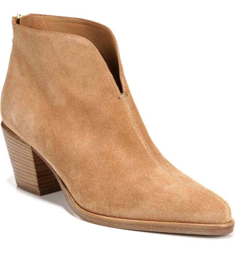 VINCE Havana Notch Bootie, Main, color, ROASTED CASHEW SUEDE