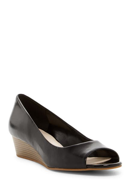 Image of Cole Haan Elsie Open Toe Wedge Pump - Wide Width Available