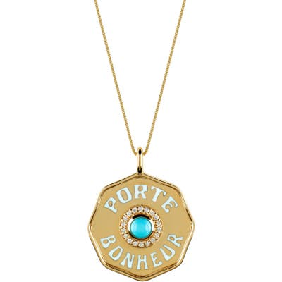 Marlo Laz Porte Bonheur Mini Coin Pendant Necklace