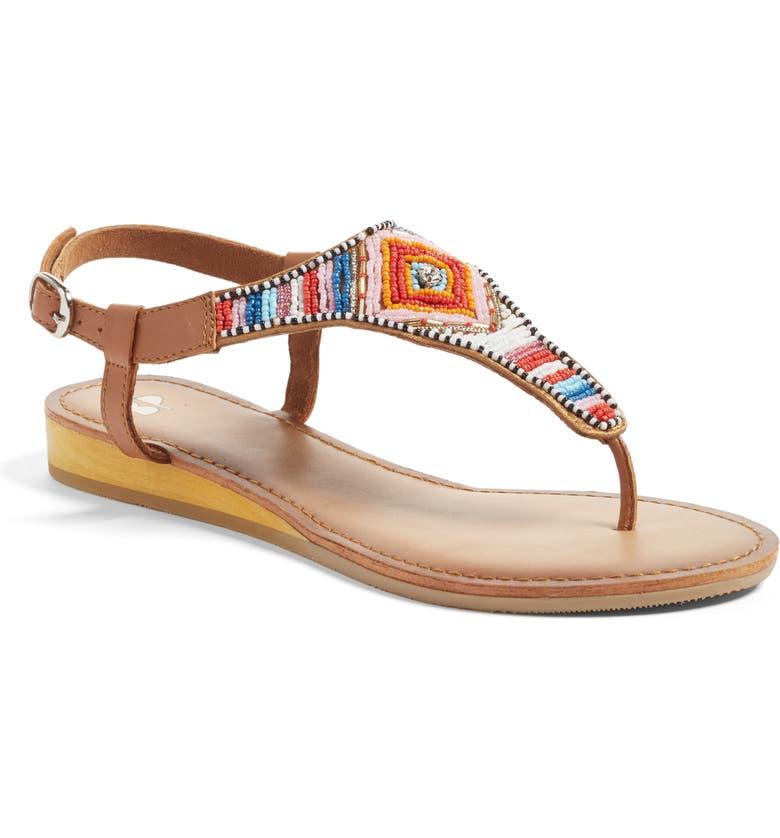BP. Zandra Beaded V-Strap Sandal, Main, color, 200