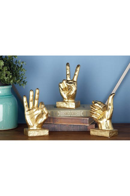 Image of CosmoLiving by Cosmopolitan Hand Sign - Set of 3