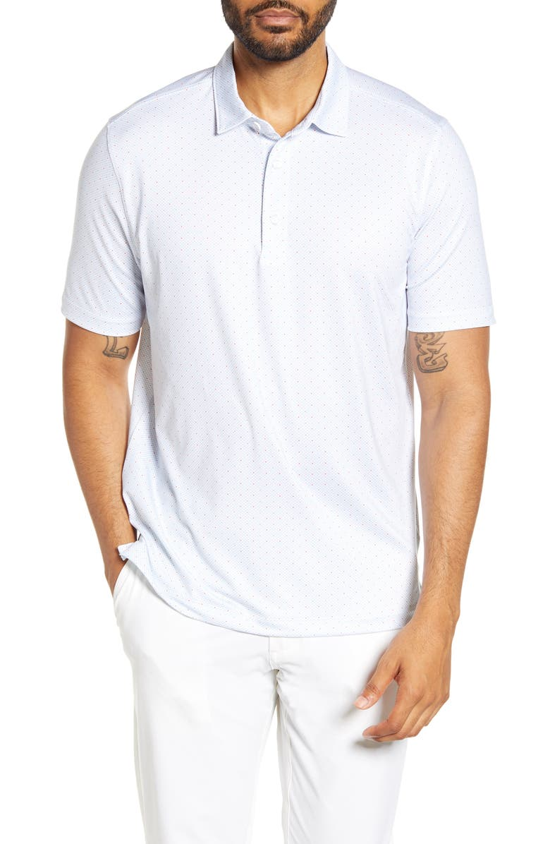 CUTTER & BUCK Pike Classic Fit Double Dot Print Polo, Main, color, NOCTURNAL