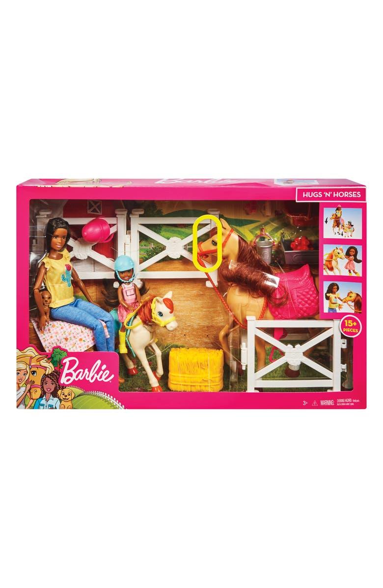 MATTEL Barbie<sup>®</sup> Hugs N Horses Dolls, Horses & Accessories Playset, Main, color, MULTI