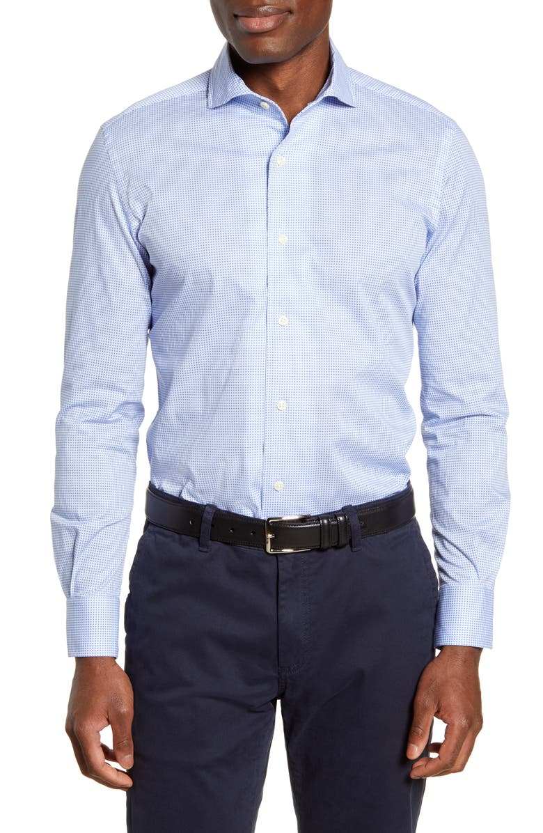 PETER MILLAR Chip Off the Old Block Regular Fit Button-Up Shirt, Main, color, COTTAGE BLUE
