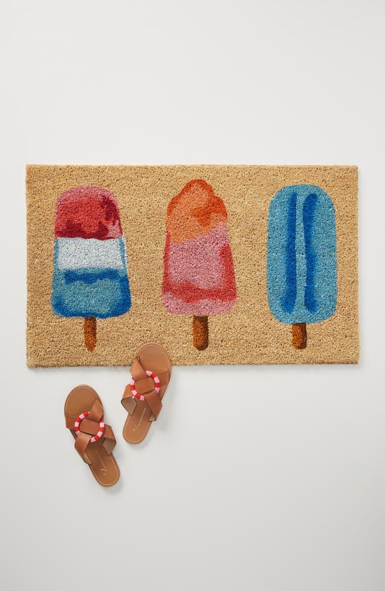 ANTHROPOLOGIE Ice Pops Doormat, Main, color, PINK