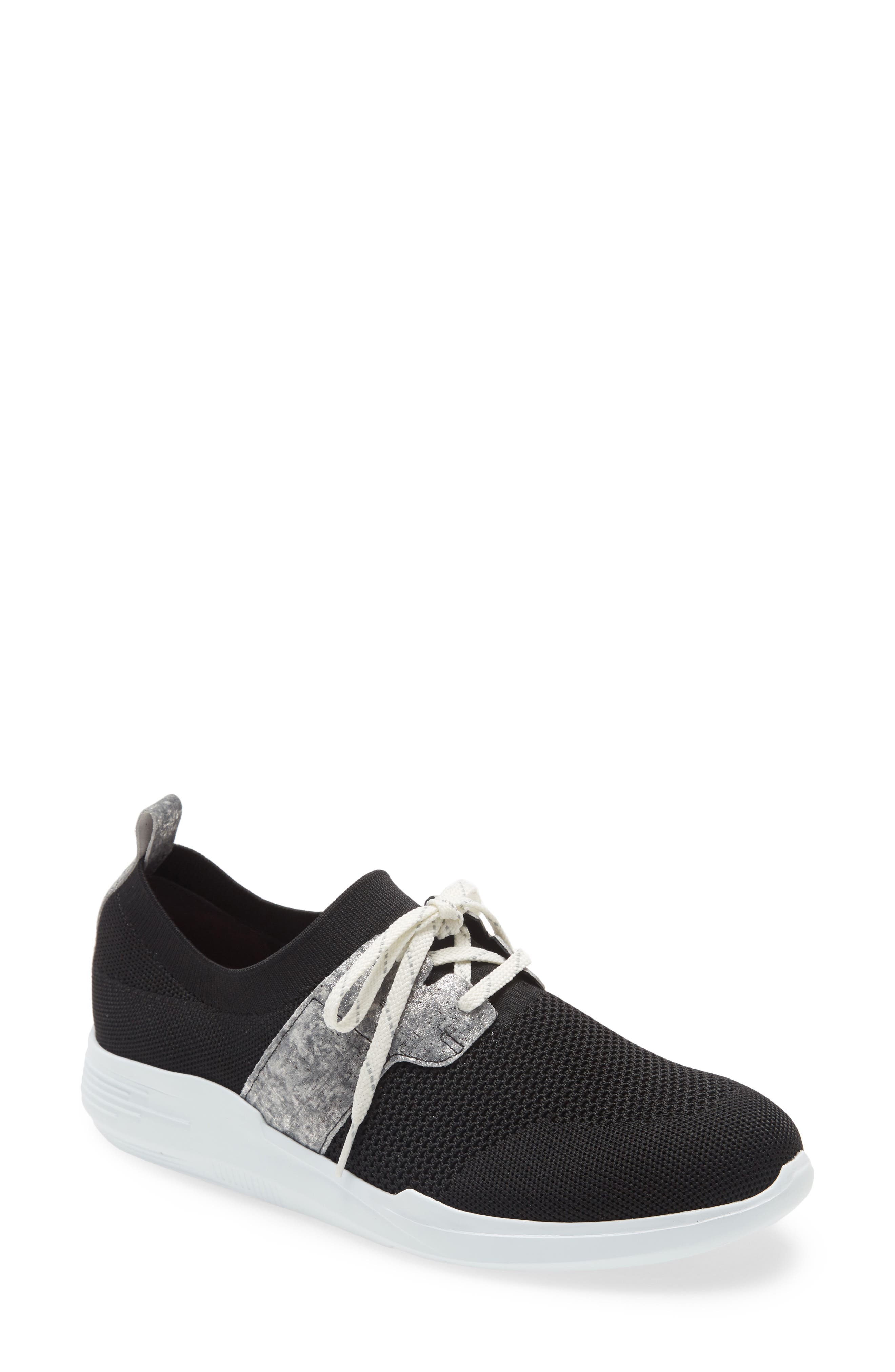 A flexible knit upper spells all-day comfort in a breathable sneaker topped with a sleek lacing cage. Style Name: Munro Sandi Sneaker (Women). Style Number: 5994577. Available in stores.
