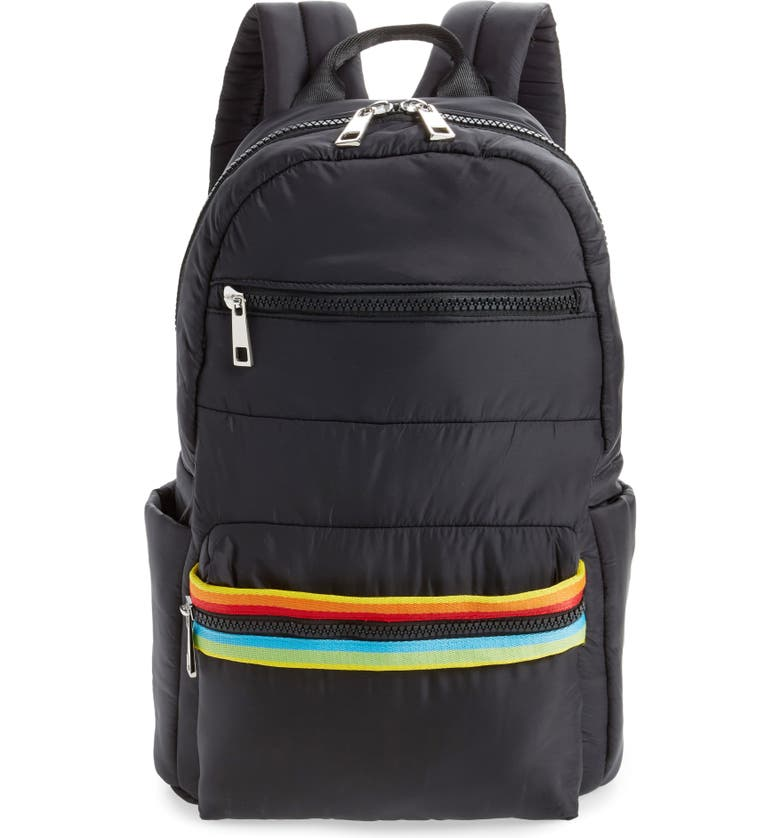 SONDRA ROBERTS Rainbow Web Backpack, Main, color, 001