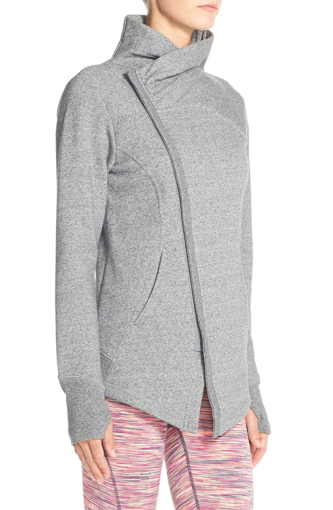 ,                             'Snowdrift' Asymmetrical Zip Sweatshirt,                             Alternate thumbnail 8, color,                             030