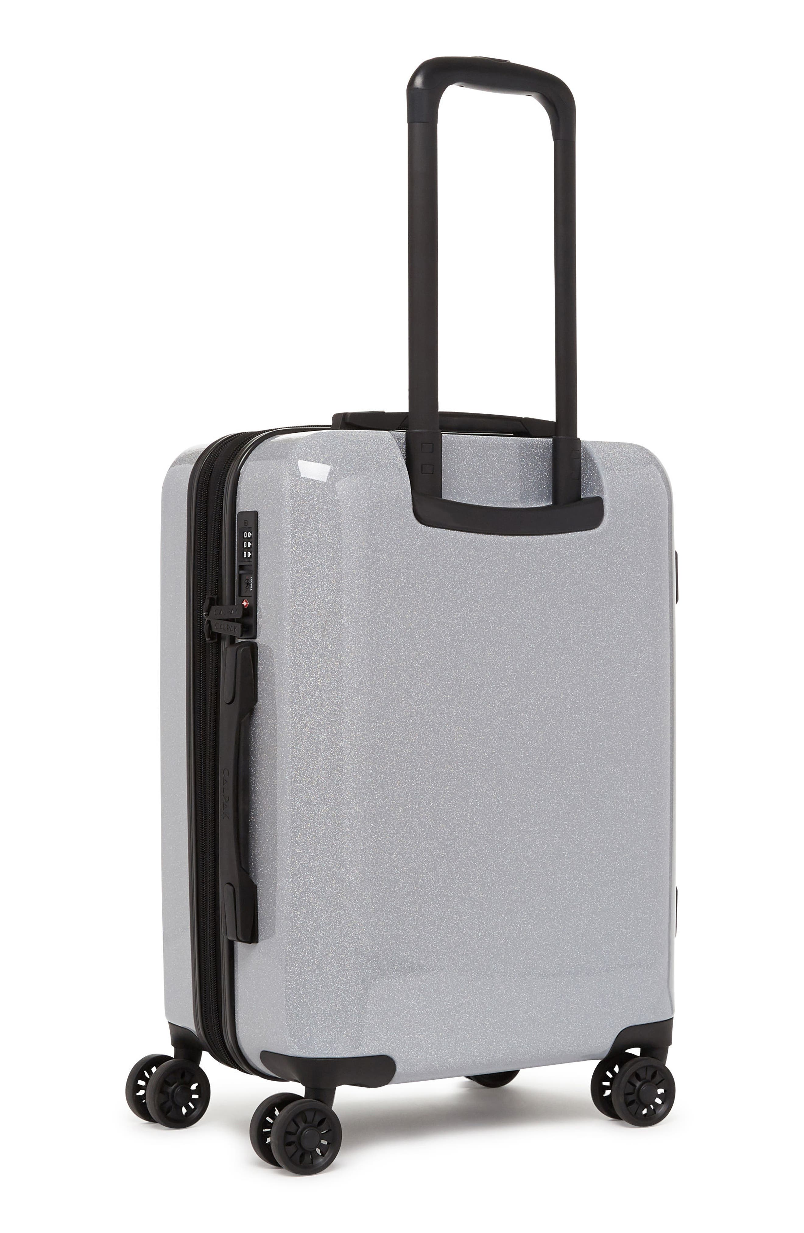 ,                             Medora Glitter 20-Inch Hardshell Spinner Carry-On Suitcase,                             Alternate thumbnail 3, color,                             SILVER STARDUST