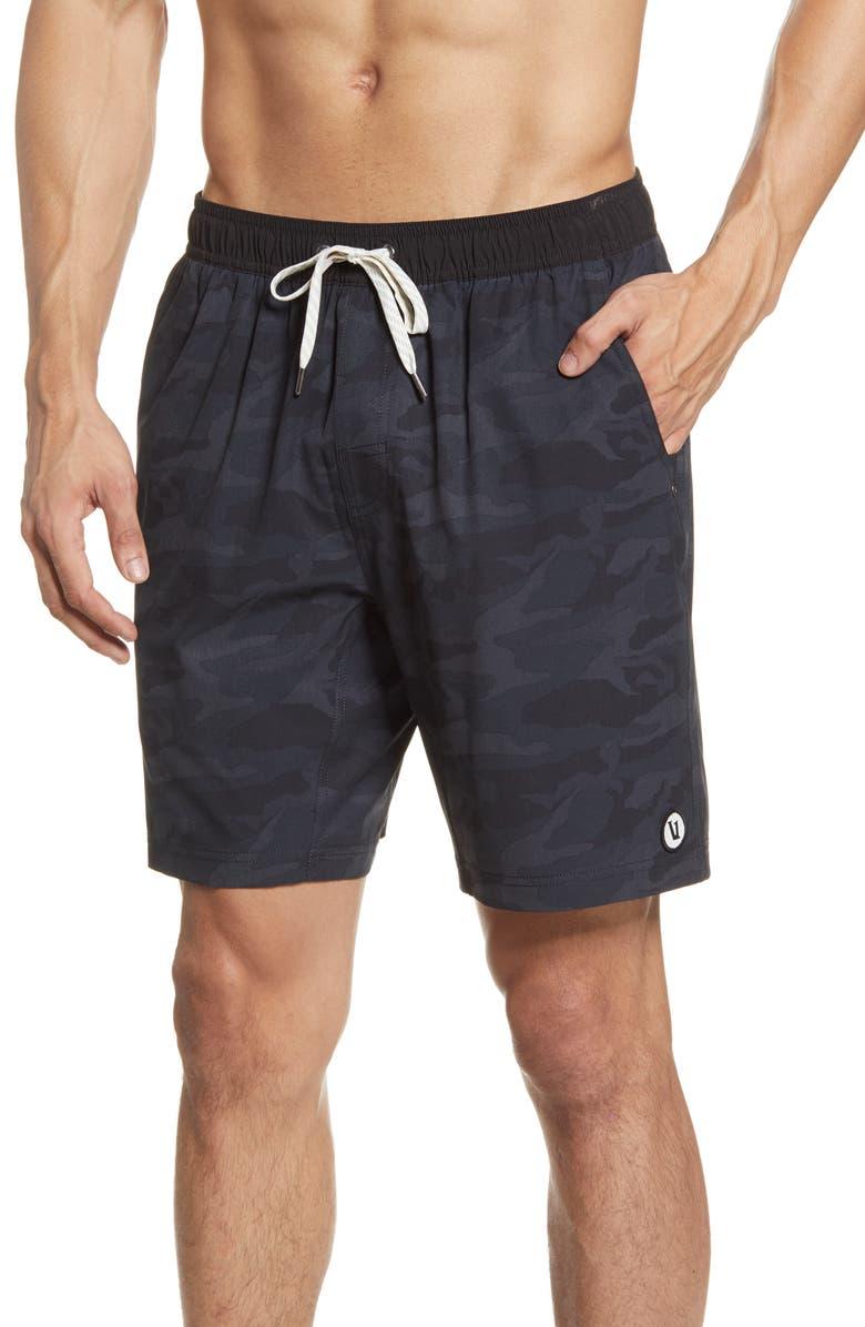 VUORI Kore Shorts, Main, color, BLACK WATERCOLOR CAMO