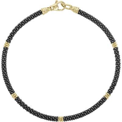 Lagos Gold & Black Caviar Rope Bracelet