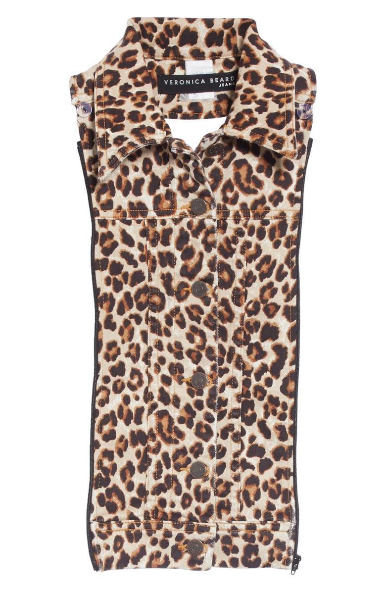 VERONICA BEARD Slate Leopard Print Dickey, Main, color, LEOPARD
