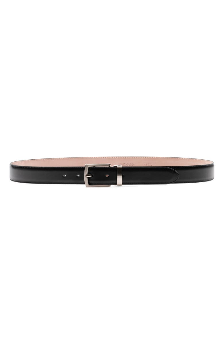 MAGNANNI Cortar Leather Belt, Main, color, 001