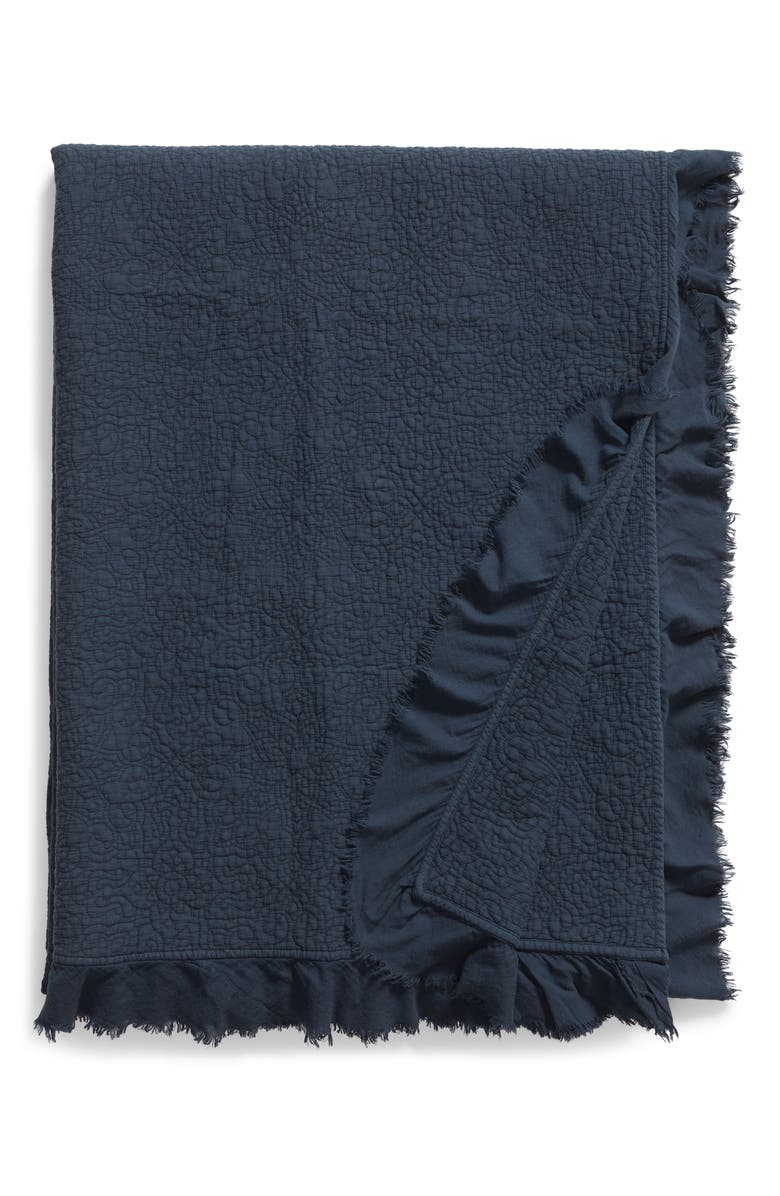 TREASURE & BOND Frayed Edge Stonewash Quilt, Main, color, NAVY MIDNIGHT
