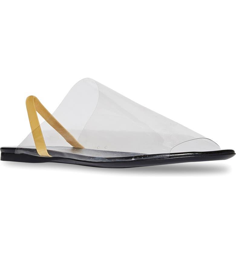 THE ROW PVC Slingback Sandal, Main, color, BLACK/ BLACK