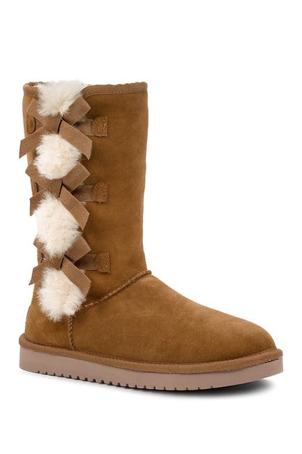 Image of KOOLABURRA BY UGG Victoria Tall Genuine Dyed Shearling Trim & Faux Fur Boot