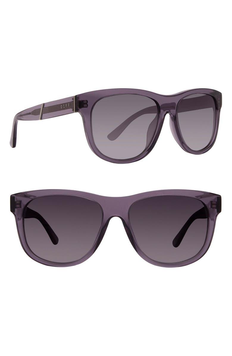 DIFF Milo 48mm Polarized Sunglasses, Main, color, SMOKE/ GREY