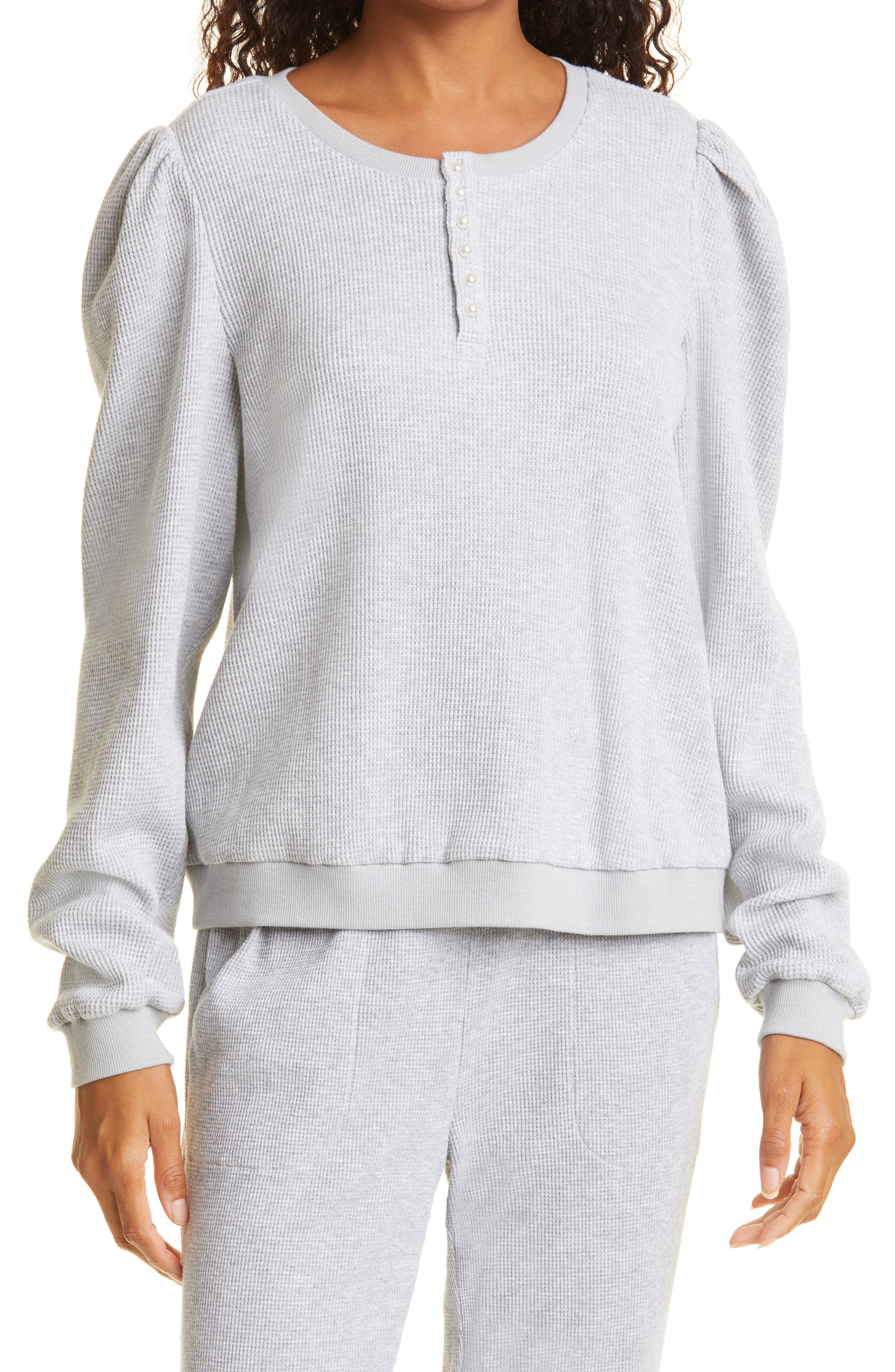 Leilani Thermal Knit Cotton Henley