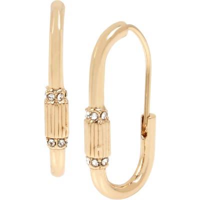 Allsaints Pave Carabiner Hoop Earrings
