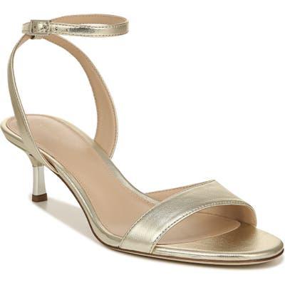Via Spiga Louise Metallic Ankle Strap Sandal, Metallic
