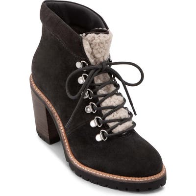 Dolce Vita Post Faux Shearling Trimmed Hiking Boot- Grey