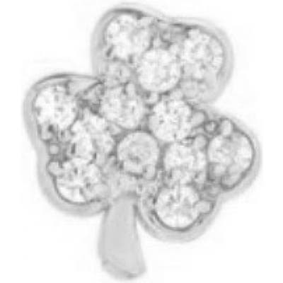 Mini Mini Jewels Diamond Icon Shamrock Earring