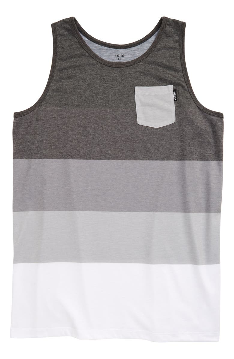 GROM Deep End Tank Top, Main, color, CHARCOAL